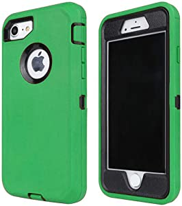 Case for iPhone 6S / iPhone 6,[Heavy Duty] Built-in Screen Protector Tough 3 in 1 Rugged Shorkproof Cover for Apple iPhone 6 / iPhone 6S (Green/Black)