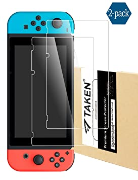 Taken Nintendo Switch Screen Protector, [2-Pack] Anti-Glare Full ...