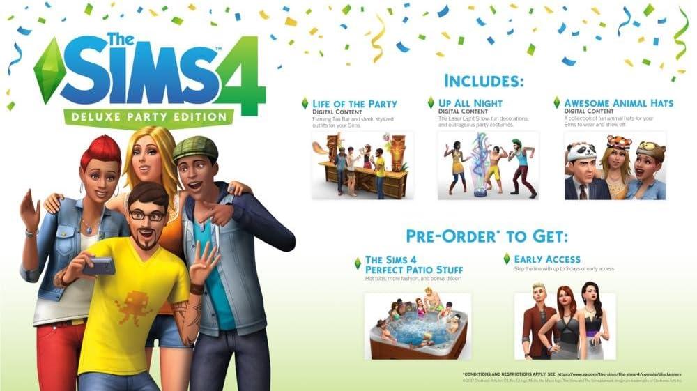 The Sims 4 Deluxe Party Edition - PlayStation 4 [Importación ...