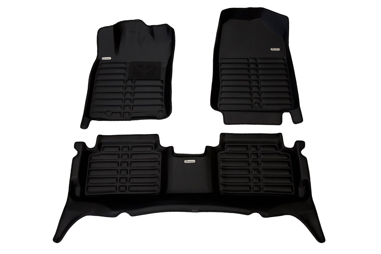 TuxMat Custom Car Floor Mats for Hyundai Elantra GT 2018-2019 Models - Laser Measured, Largest Coverage, Waterproof, All Weather. The Ultimate Winter Mats, Also Look Great in the Summer. The Best Hyundai Elantra Accessory. (Full Set - Bla