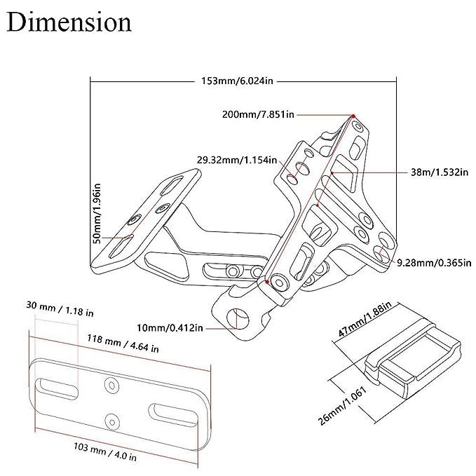 Motorcycle Cnc Aluminum Lisence Plate Holder Tail Tidy Fender