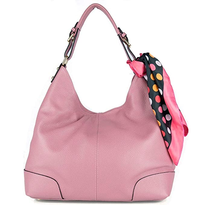 Shopping bag borsa rosa donna hobo grande capiente