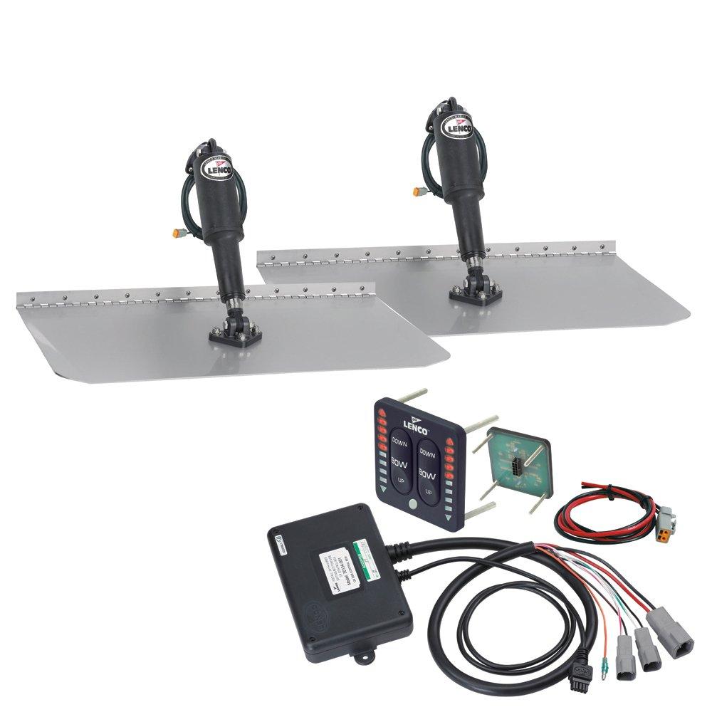 Lenco 12'' x 18'' Standard Trim Tab Kit w/LED Indicator Switch Kit 12V (29318)
