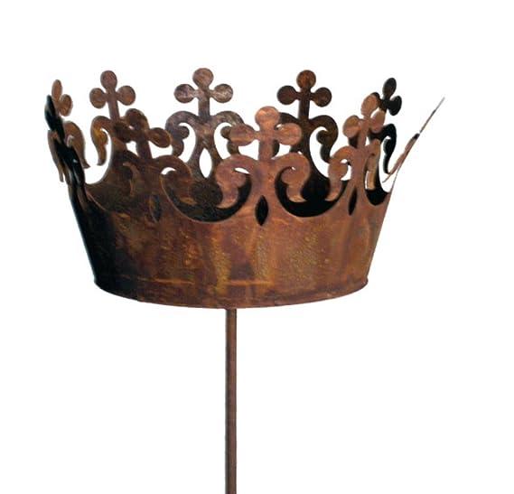 Deko-Krone D 33,5 cm Metall Edelrost Gartendeko Krone Dekokrone