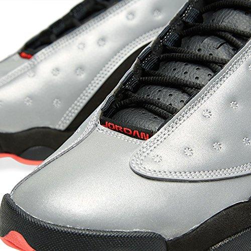 Nike Air Jordan 13 Retro Prm, Zapatillas de Deporte Exterior para Hombre Plateado / Rojo / Negro (Reflect Silver / Infrrd 23-Blck)