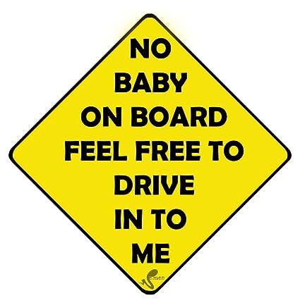 seamen synthetic no baby on board car sticker