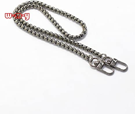 M-W 31.5 DIY Iron Box Chain Strap Handbag Chains Accessories Purse Straps Shoulder Replacement Straps with Metal Buckles Style2 Silver