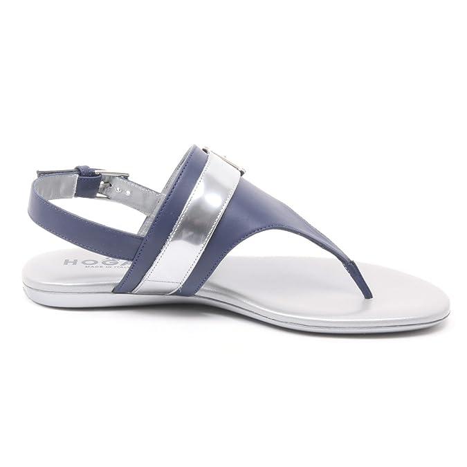 donna flop 40 infradito B4082 HOGAN valencia woman blu flip argento scarpe chiaro q6x45HwZx