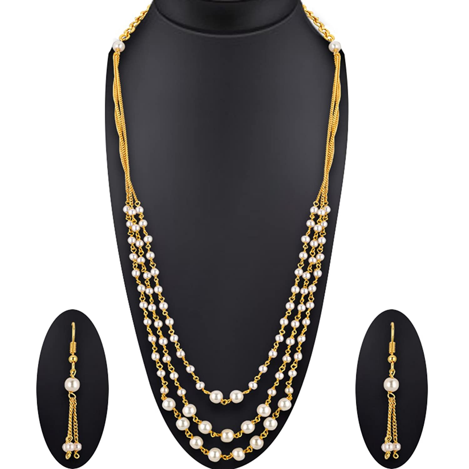 New Fashion Gold Plated Brass Metal Necklace Set