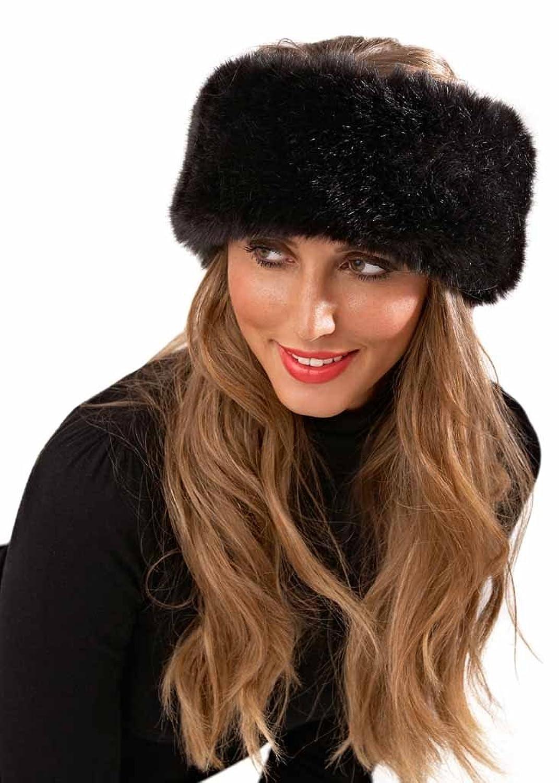 Damen Stirnband aus Kunstpelz, Winter Ski, Kopf-/Ohrwärmer, Haarband, Hut, Einheitsgröße