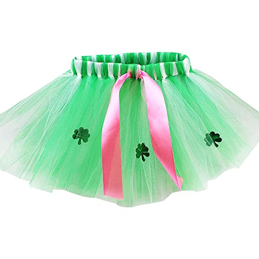 Vxhohdoxs - Falda tutú de tul con cinta verde de lentejuelas para ...