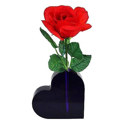 Amazon Lucite Heart Shaped Bud Vase For Desktop Shelf Table