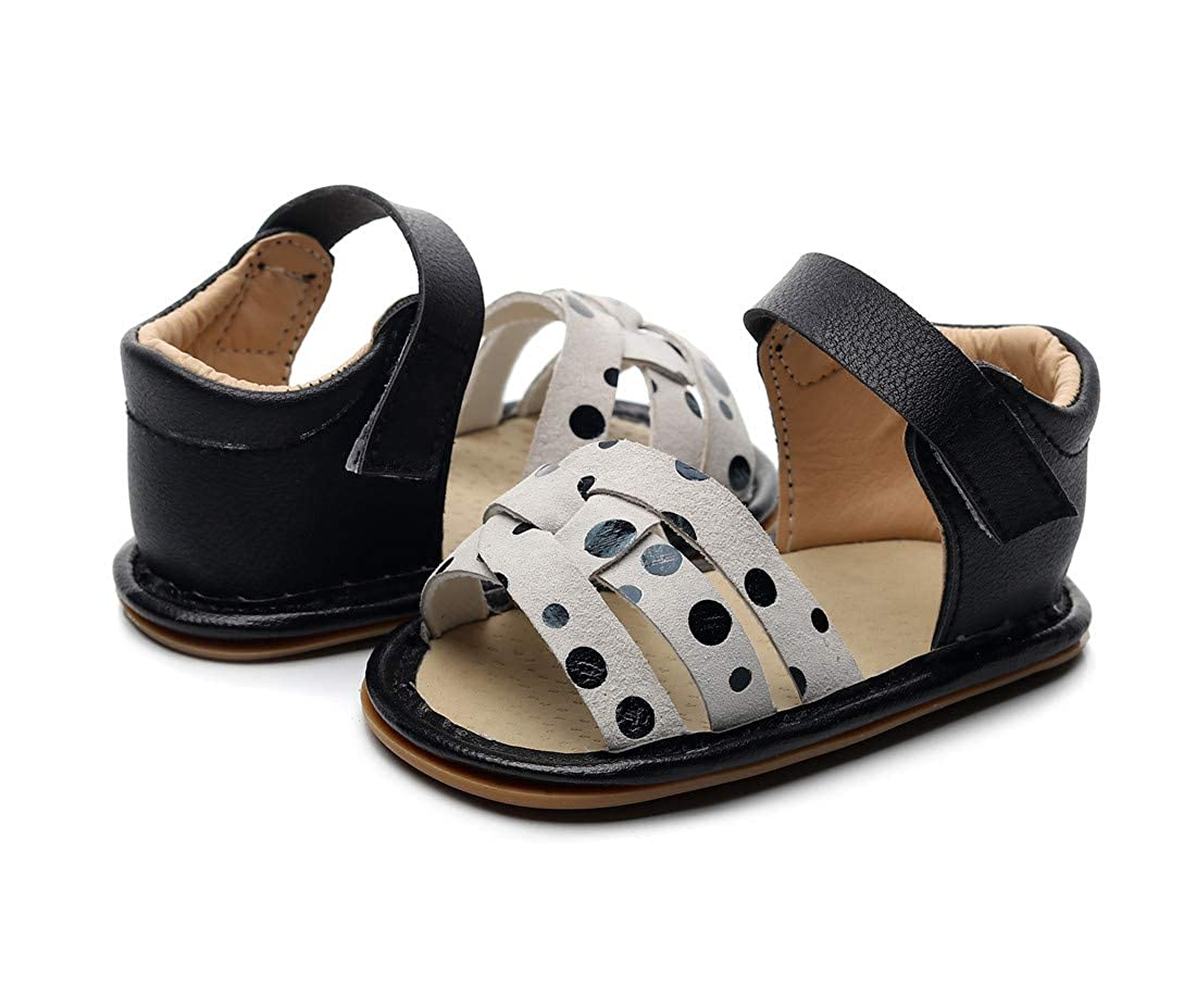 FAYUEKEY Summer Infant Sandals for Baby Girls /& Boys Child Moccasins Hard Rubber Sole Pu Leather Toddler Shoes