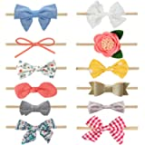MEISO Headbands and Bows for Baby Girl 12 Pcs Hair Accessories for Newborn Infant Gifts