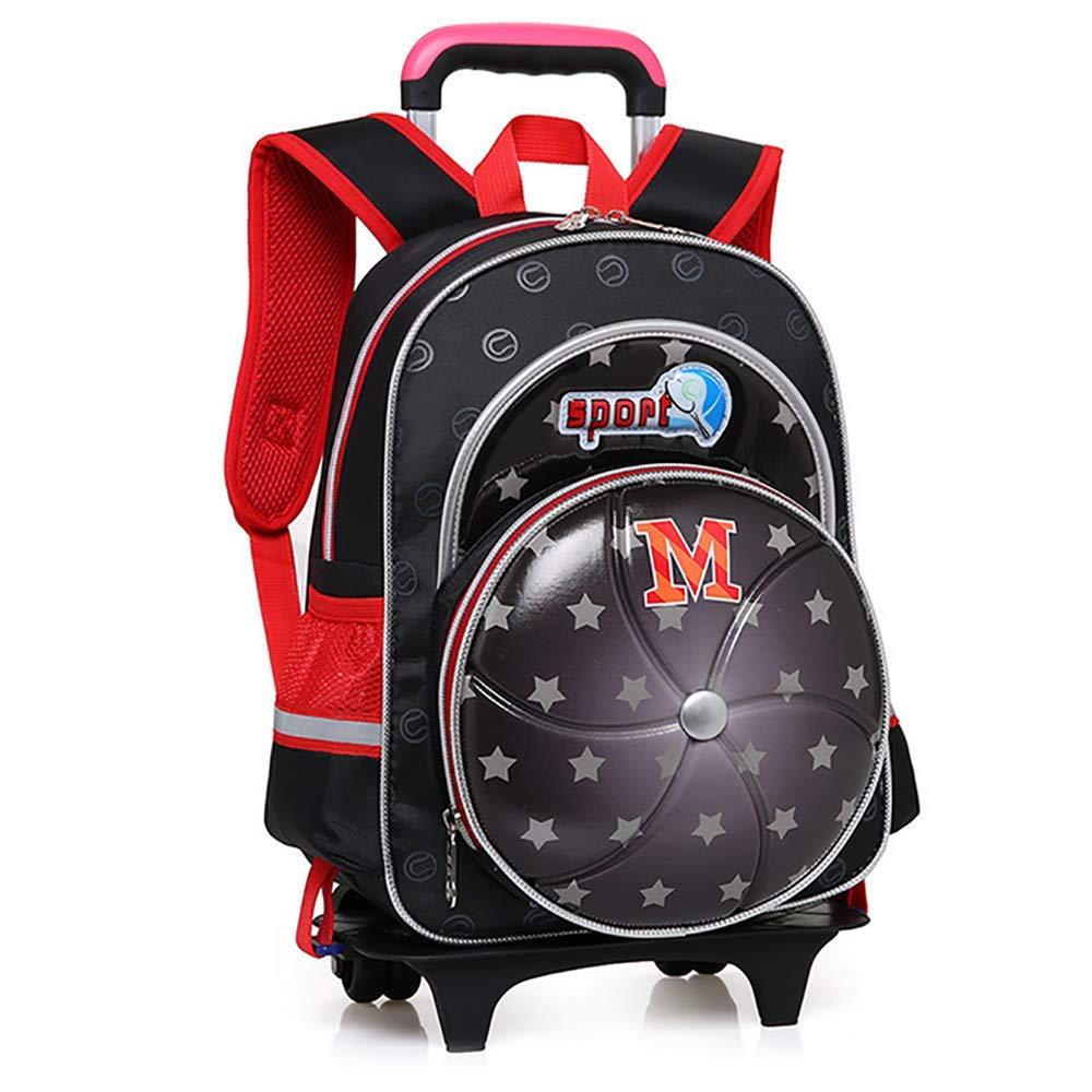 QCC& Kindergarten Junge Mädchen Sicherheit Reflektierend Trolley Schule Rucksack Taschen Mit Rädern Entfernbar Wasserdicht Reisetaschen Für Kinder D