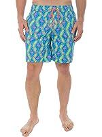 Men's Flamingo Beach Shorts - Bright Neon Short Shorts