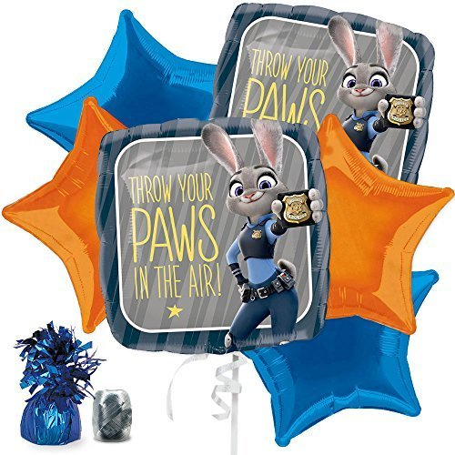 Costume SuperCenter Zootopia Balloon Bouquet Kit -