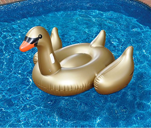 Swimline Giant Golden Goose - Swan Golden