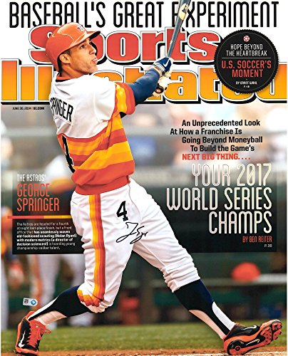 "George Springer Houston Astros 2017 MLB World Series Champions Autographed 16"" x 20"" Sports Illustrated Cover Photograph - Fanatics Authentic Certified"