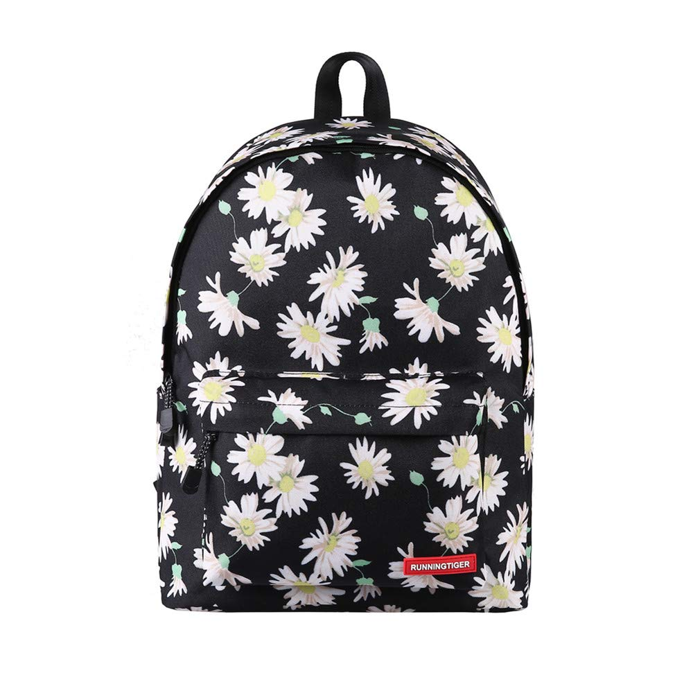 Fashion Students Backpack,INorton Lightweight Canvas Travel Daypack for Girls Teens,Casual Large Capacity College Bookbag for Boys