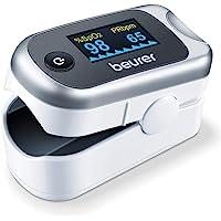 Beurer Po40 Pulsioxímetro, Determina Saturación Oxígeno y Pulsaciones, Display con 6 Vistas, Luz Display Brillante…
