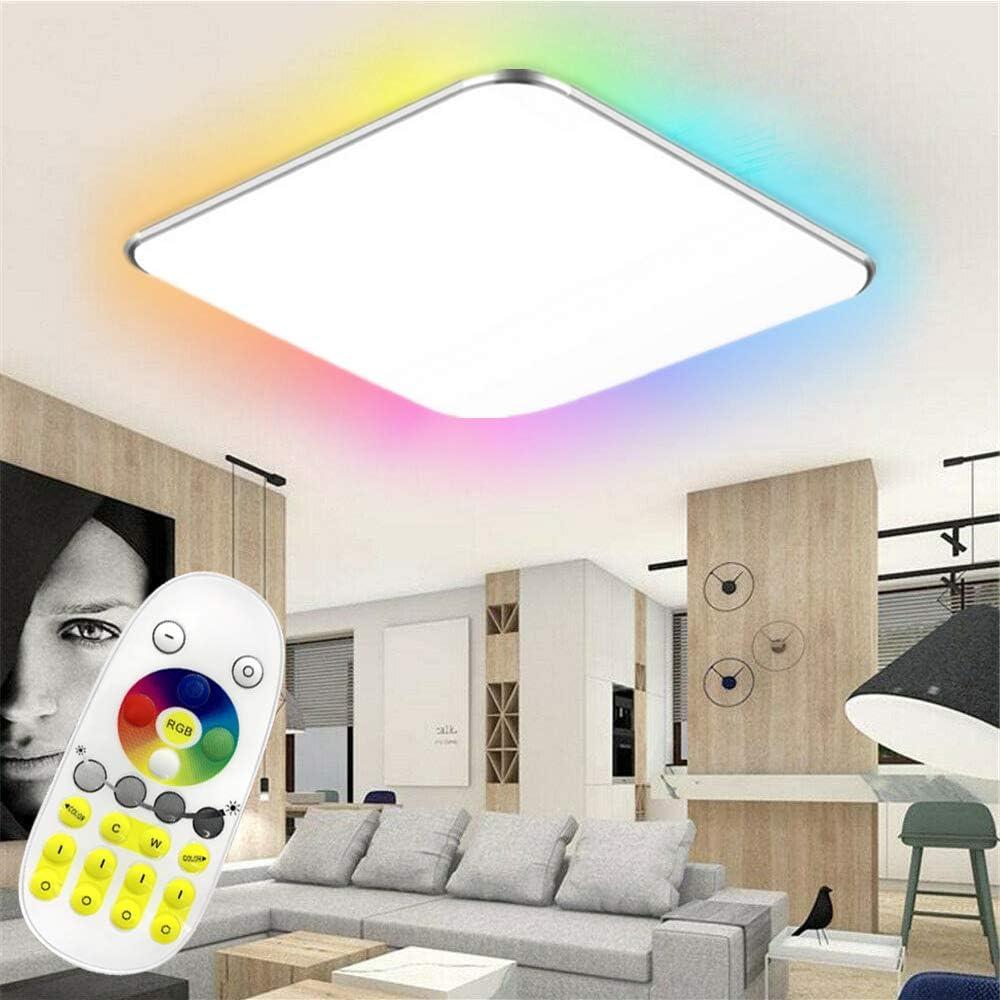 48W Froadp RGB LED Deckenleuchte Panel mit Fernbedienung Flimmerfreie Dimmbar Deckenlampe IP44 Blendfrei f/ür K/üche Schlafzimmer Flur Wohnzimmer