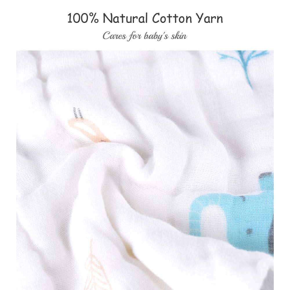 Face Towels for Newborn with Sensitive Skin Caiery 10pcs Baby Washcloths Soft Shower Gift for Baby Registry 12x 12 inch 30x30cm Bamboo Cotton Baby Muslin Washcloth