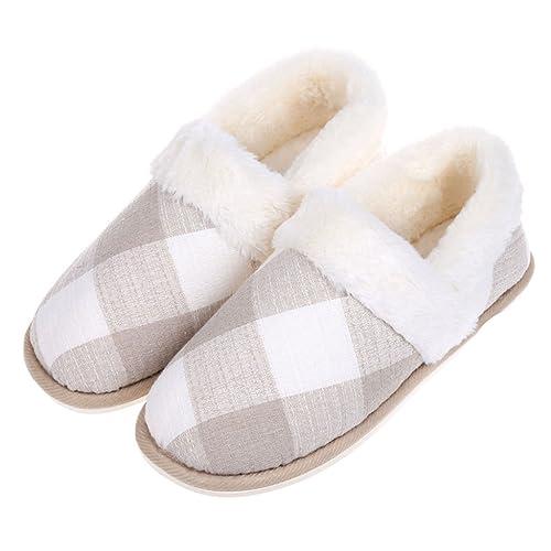Pantofole DWW Uomo in Cotone Spessi caldissimi per la casa di Inverno 30ba74b10ea