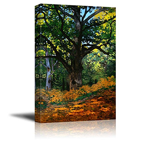 Print Bodmer Oak by Claude Monet Reproduction