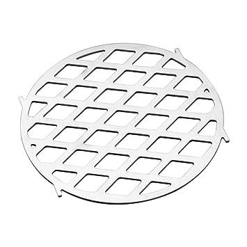 Onlyfire Rejilla de Acero Inoxidable patrón de cocción Parrilla se Adapta para el Sistema de asador Gourmet Weber