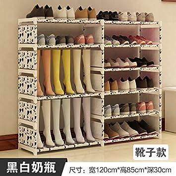 ASIBG Home Einfache Schuhputzmaschine Schuhputzmaschine Montage stahl Staub mit multi Haushalt moderner Schuhschrank, c