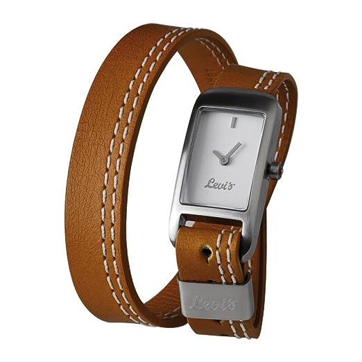 73e4c3a1372a Levis L011GICWRN - Reloj analógico de mujer de cuarzo con correa de piel  marrón - sumergible a 30 metros  Amazon.es  Relojes