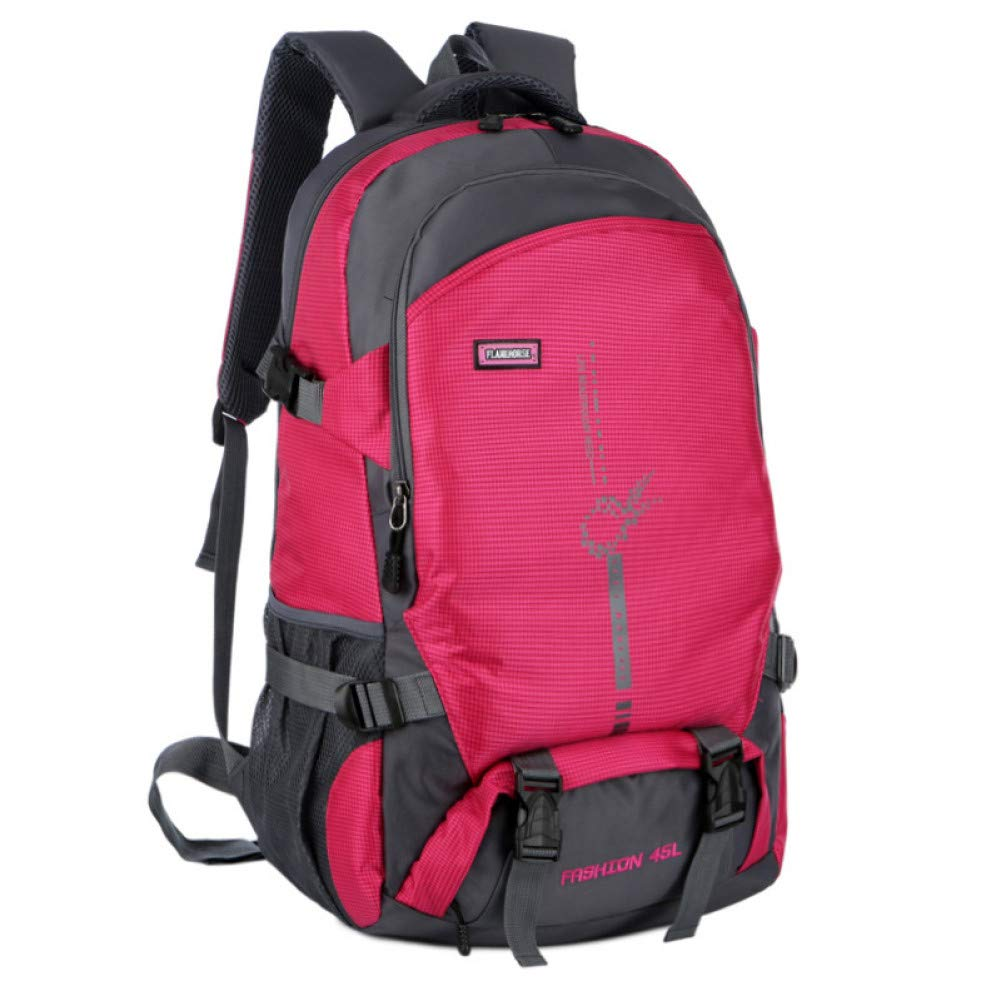 Red HUYANNABAO 40L Outdoor Climbing Rucksack Mountaineering Bags Camping Backpack Sports Bag Hiking Backpacks Nylon Waterproof