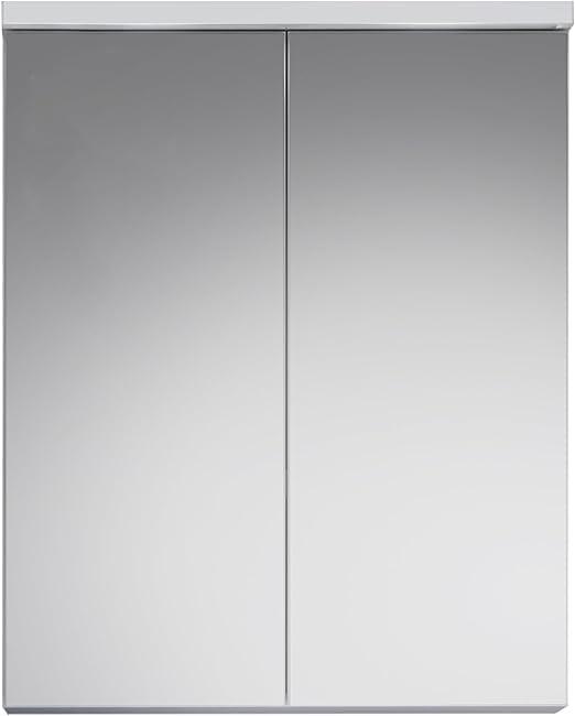 trendteam Muebles, Armario con espejo, Madera, Blanco, 65 x 80 x ...
