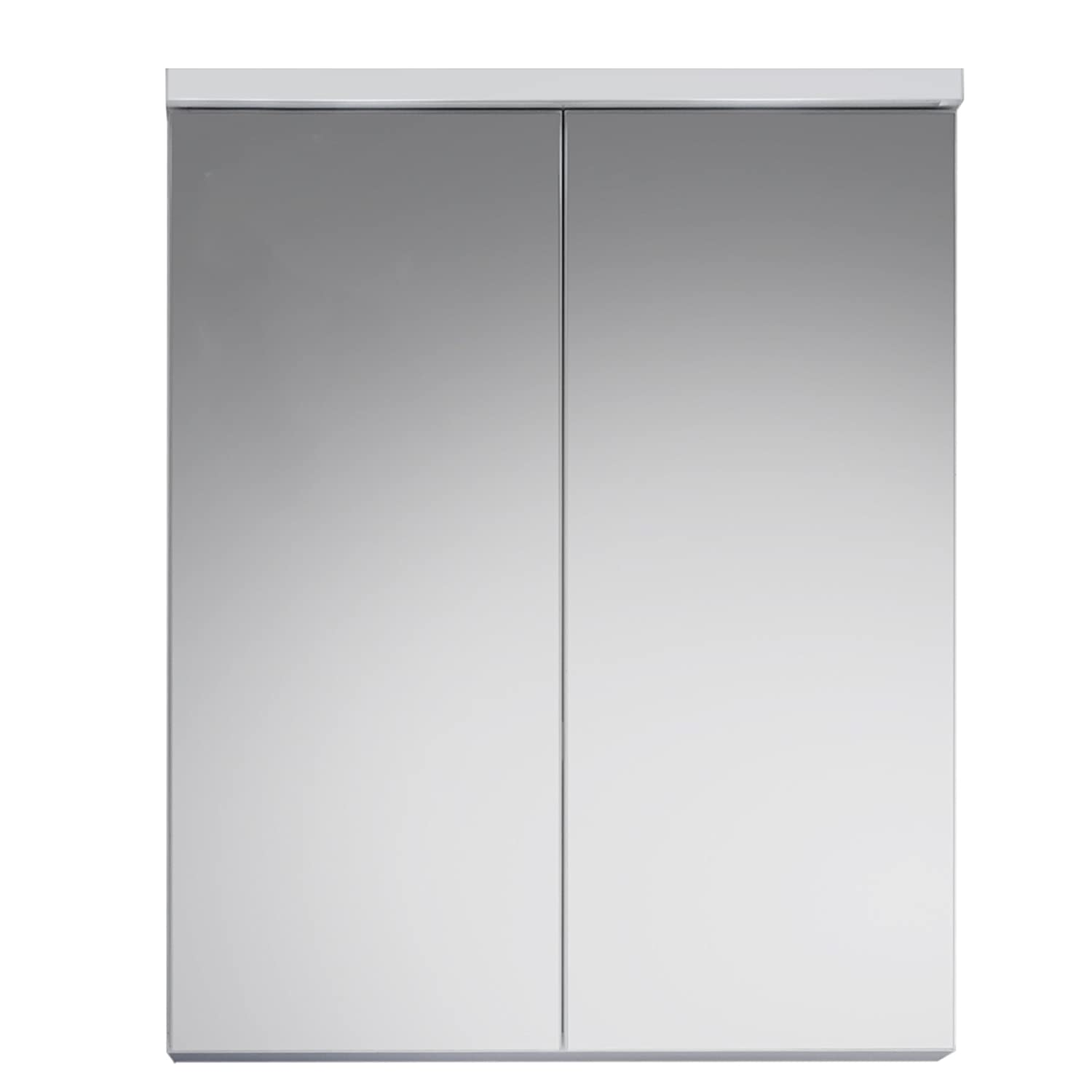 Furnline Nightlife High Gloss Bathroom Under Sink Cabinet, White 132050301