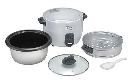 Amazon.com: Black & Decker RC1860 700W 1.8 L 7.6 Cup Rice Cooker (Non-USA Compliant), White: Kitchen & Dining