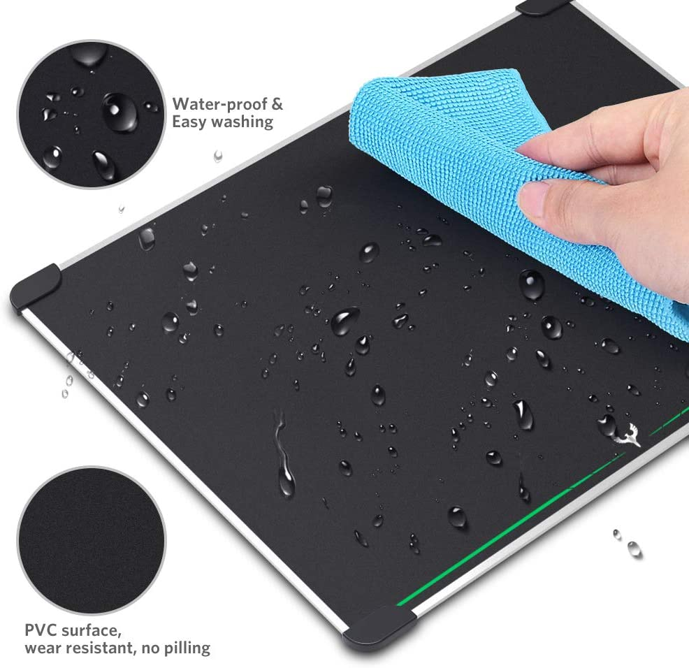 Blade Hawks Gaming Mouse Pad W Double-Sided Aluminum Core Mouse mat Non-Slip Rubber Base /& Micro Sand Blasting Surface for Fast and Accurate Control,13.5x9.5