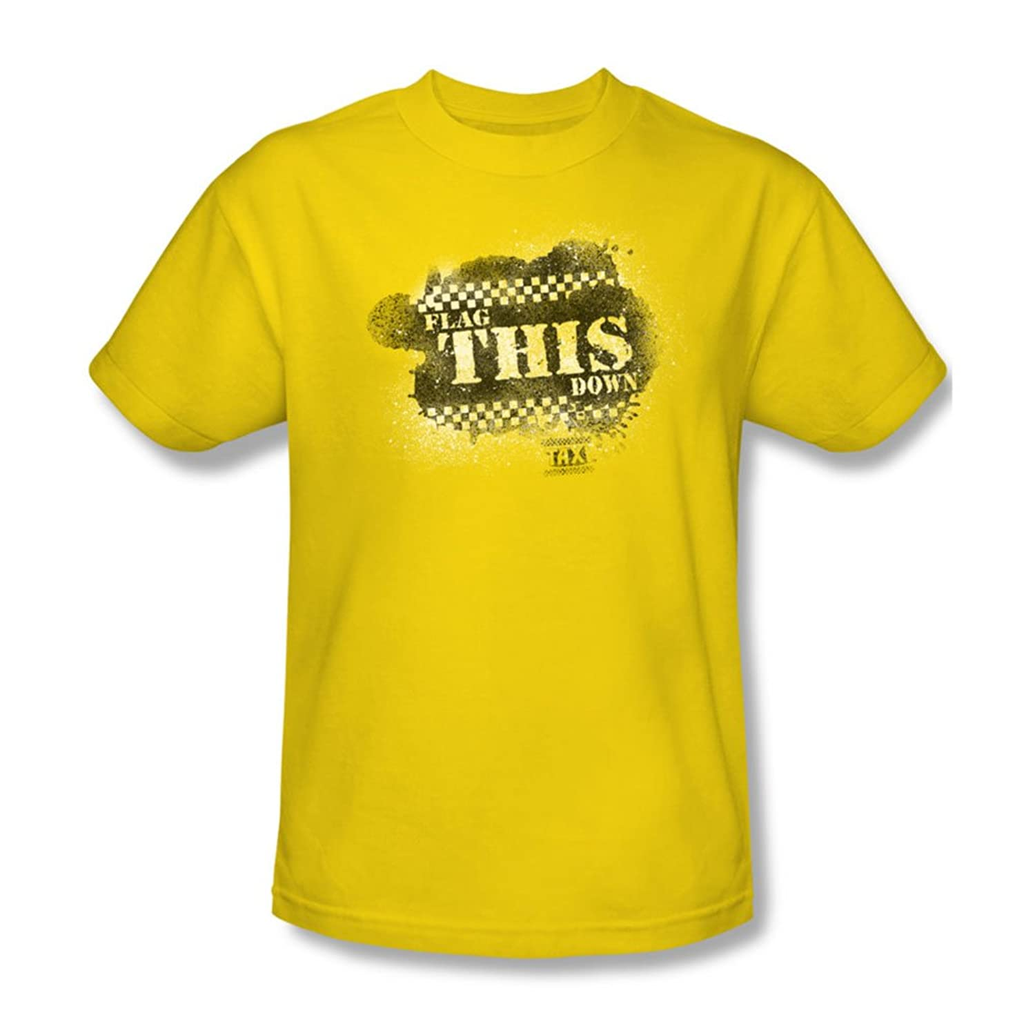 Taxi - Mens Flag This T-Shirt In Yellow