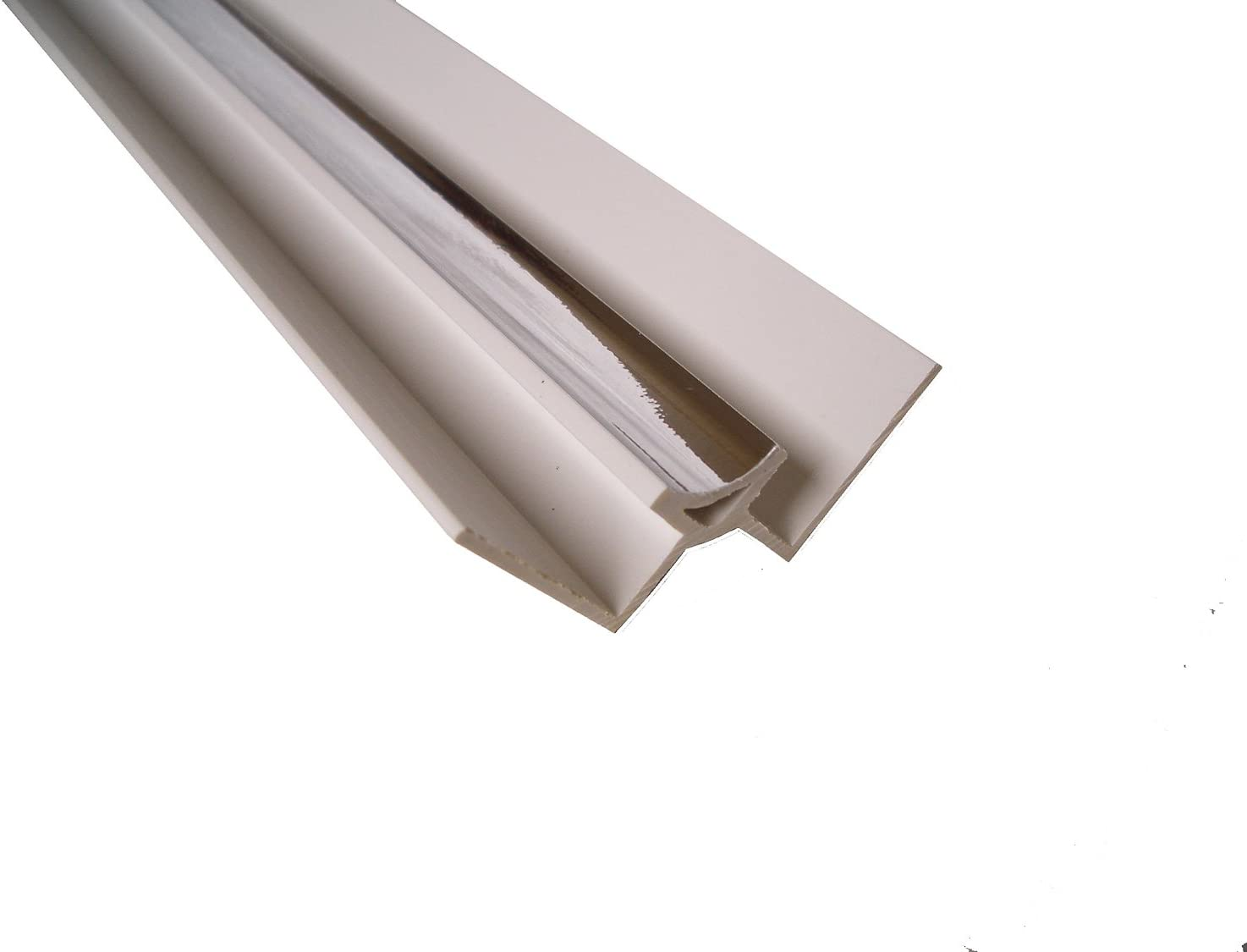Chrome Panel Trim Perfect for Bathroom Kitchen Shower Wall PVC Cladding Panels-8mm Internal Corner Edging Trim-100/% Waterproof-Use with Claddtech Adhesive