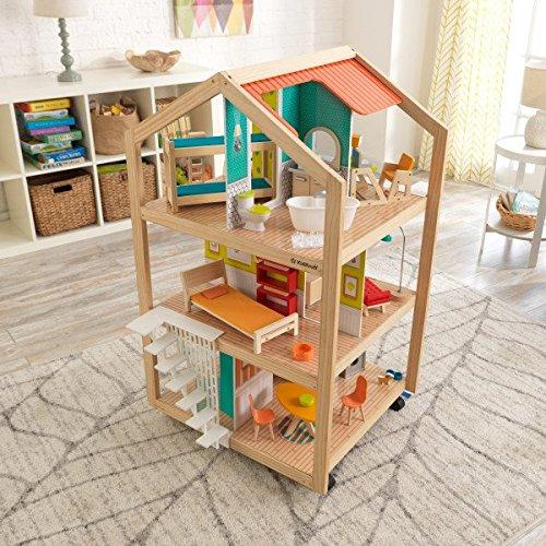 61JCX60454L - KidKraft So Chic Dollhouse with Furniture