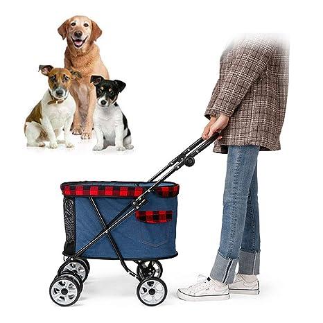 LiRongPing Silla de Paseo para Mascotas | Plegable, Mascota ...