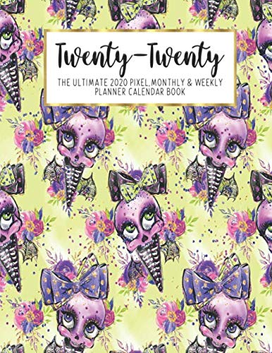 Twenty-Twenty The Ultimate 2020 Pixel Monthly & Weekly Planner Calendar Book: Halloween Kids | 13 Month | December 2019 - December 2020 | 8.5 X 11