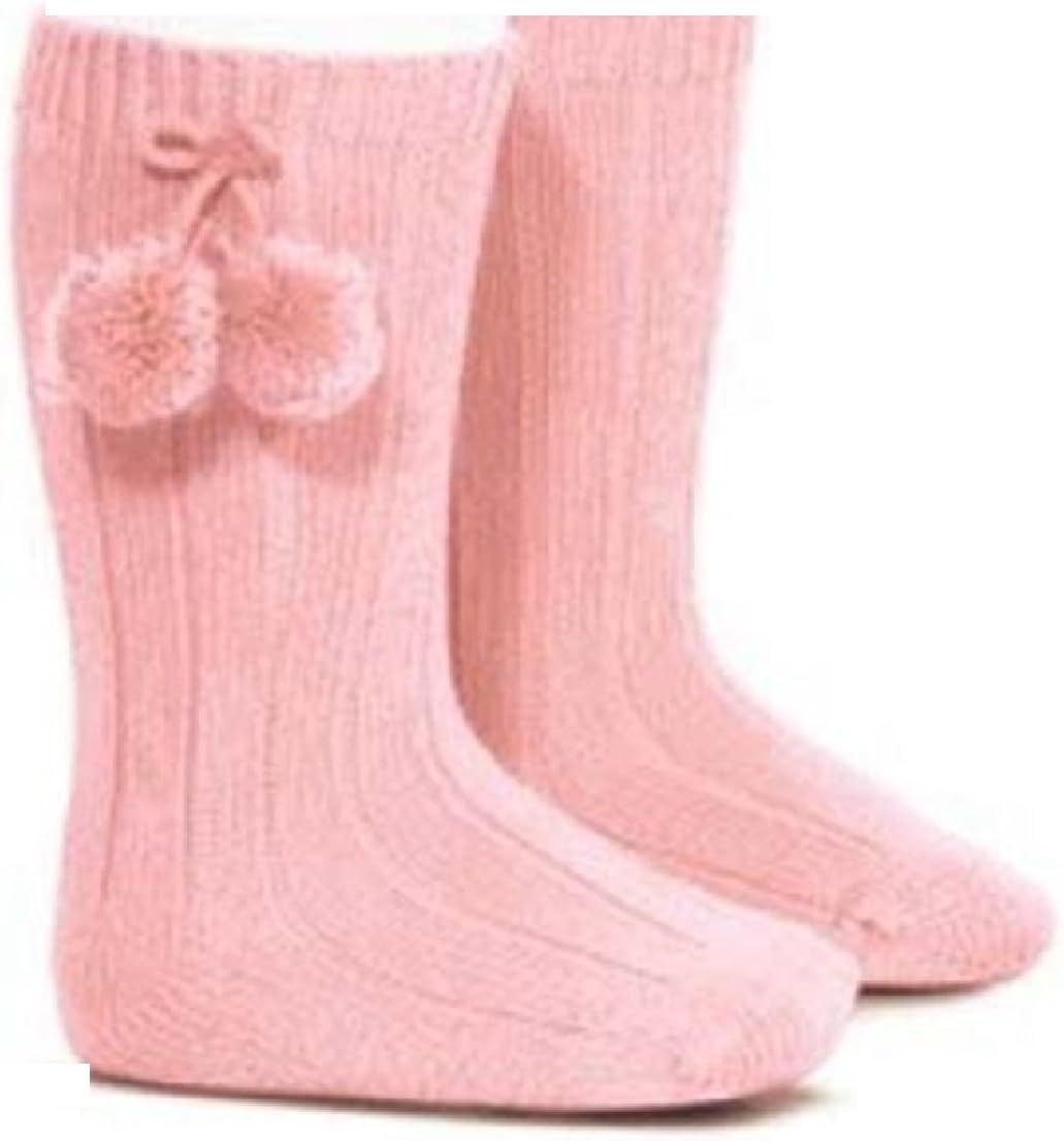 Babies Baby Red Knee Pom-Pom Socks Spanish Romany Style