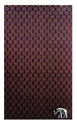 Brown Thai Silk Blend Guest Check Presenter, Check Book Holder for Restaurant, Check Pad Holder, Waiters Wallet, Waitstaff Organizer, Server Book for Waitress with Plastic Cover. U by Kathy