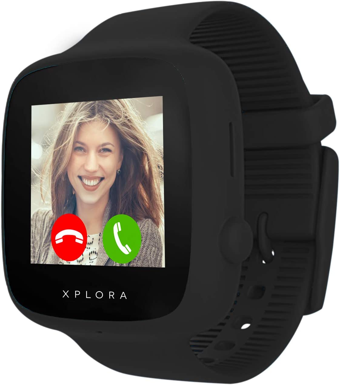 XPLORA GO - Teléfono reloj para niños (SIM no incluida) - Llamadas, mensajes, modo colegio, botón SOS, localizador GPS, cámara y podómetro - Incluye 2 años de garantía (NEGRO)