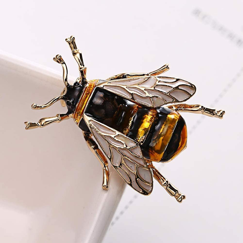 Alapaste Honey Bee Brooch Pins Bird Bee Broaches Silver and Colorful Tone Brooch Pins for Womens Clothing Scarf Decor