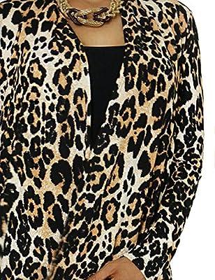 Women's Leopard Pattern Animal Design Soft and Comfortable Fashion Cardigan