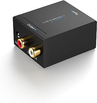 KabelDirekt - Conversor Audio digital a analógico, (óptico/coaxial a RCA, para convertir una señal de audio óptica o eléctrica (coaxial) en una señal estéreo analógica): Amazon.es: Electrónica