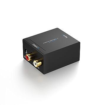 KabelDirekt Conversor Audio digital a analógico, (óptico/coaxial a RCA, para convertir