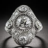 Vintage Women Jewelry 925 Silver White Sapphire Engagement Wedding Ring Sz 6-10 by Siam panva (9)